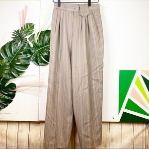 {Vintage} Bruestle Wool High Waist Trousers